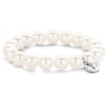 Bracelet Ti Sento Femme 2524PW - Bracelet Perles Blanches Argent - Ti Sento