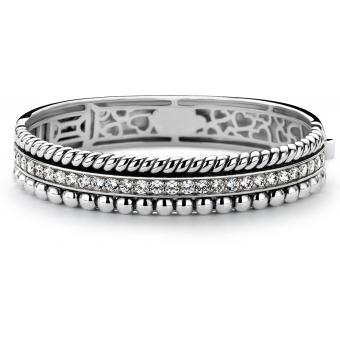 Bracelet Argent et Plaqué Or Ti Sento - Bracelet Argent Zirconium Femme - Ti Sento