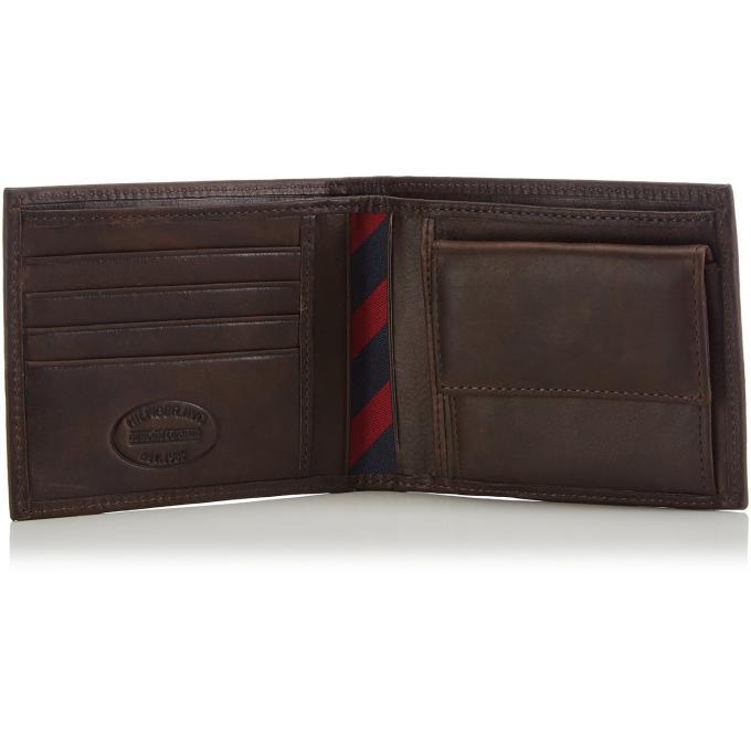 portefeuille johnson cuir de vachette hilfiger maroquinerie cadeaux maroquinerie homme