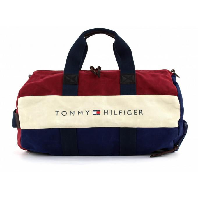 weekender lance toile tommy hilfiger maroquinerie sac homme. Black Bedroom Furniture Sets. Home Design Ideas