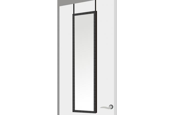 Miroir porte argyle blanc plastique 37 x 2 x 128 cm - Miroir rectangulaire pas cher ...