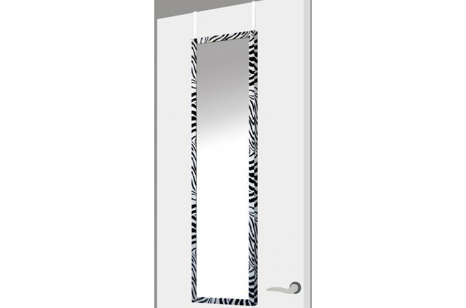 Miroir porte zebra noir plastique 37 x 2 x 128 cm for Miroir fantaisie design
