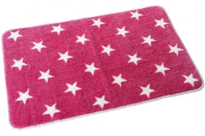 Tapis salle de bain stars rose 45 x 70 x 1 cm declikdeco - Tapis salle de bain rose ...