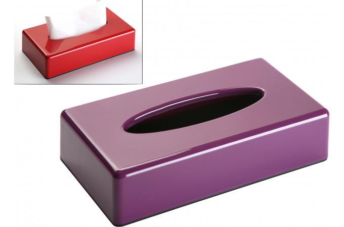 bo te mouchoirs violette en polypropyl ne bianca accessoire salle de bain pas cher. Black Bedroom Furniture Sets. Home Design Ideas