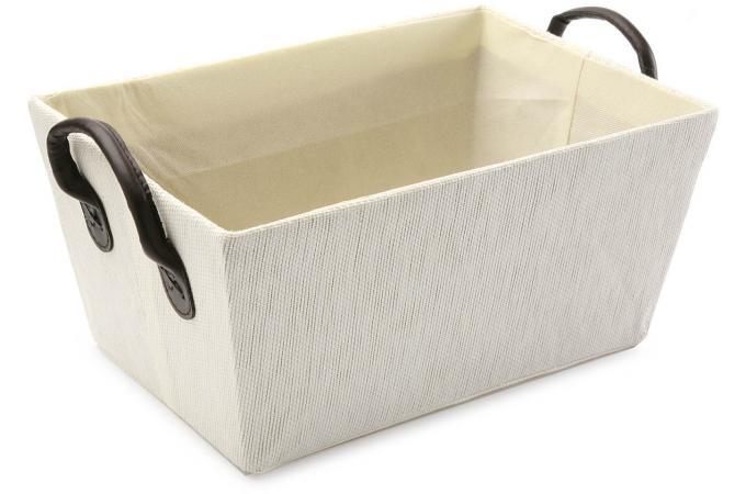 caisse blanche avec des anses bo te de rangement pas cher. Black Bedroom Furniture Sets. Home Design Ideas