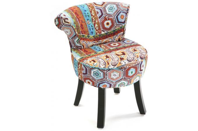 Petit fauteuil crapaud imprim patchwork fauteuil crapaud pas cher - Petits fauteuils design ...