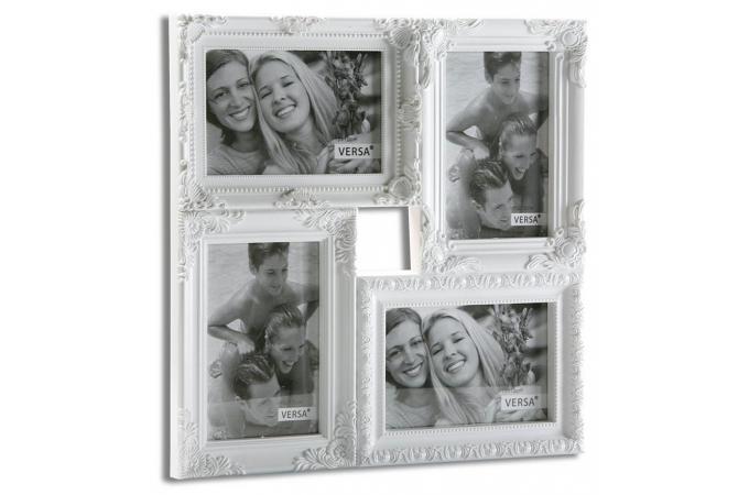ensemble de 4 cadres photos blancs cadre photo pas cher. Black Bedroom Furniture Sets. Home Design Ideas