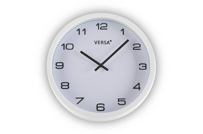 Horloge mural blanche 25cm horloge design pas cher for Horloge blanche design
