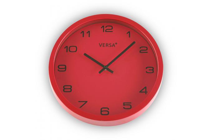 Horloge murale rouge 25cm horloge design pas cher for Horloge murale design rouge