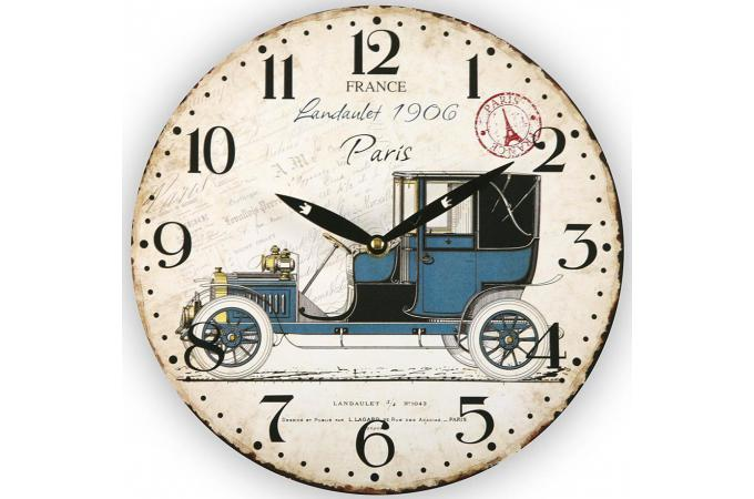 horloge murale voiture 1900 horloge design pas cher. Black Bedroom Furniture Sets. Home Design Ideas