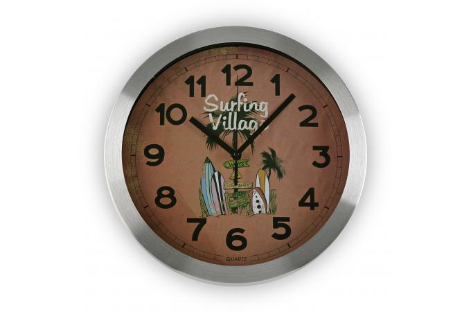 horloge rouge surfing village horloge design pas cher. Black Bedroom Furniture Sets. Home Design Ideas