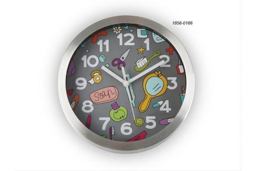 Horloge Salle De Bain 20 Cm Bathroom Grise18560166