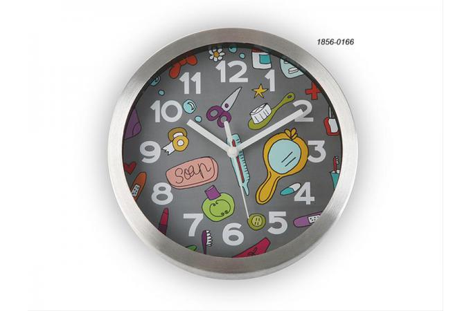horloge salle de bain ventouse horloge salle de bain 20 cm bathroom grise declikdeco horloge - Horloge Salle De Bain Ventouse