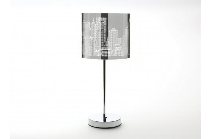 lampe de table grise en acier newman lampe poser pas cher. Black Bedroom Furniture Sets. Home Design Ideas