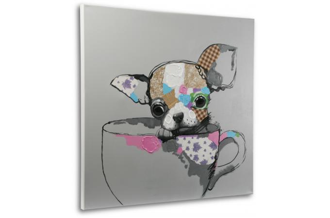 tableau d 39 un petit chien peint la main tableau animaux. Black Bedroom Furniture Sets. Home Design Ideas