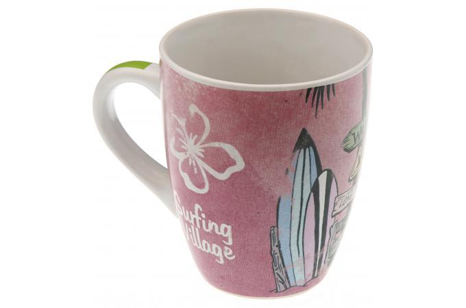 tasse rouge surfing village mug verre pas cher. Black Bedroom Furniture Sets. Home Design Ideas