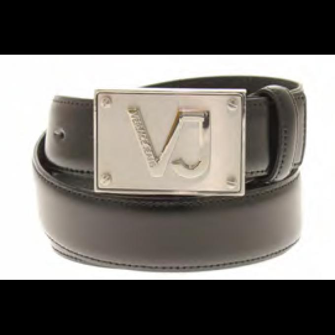 e50f0a1c09d CEINTURE AVEC PLAQUE SIGLE VJ RELIEF Versace Jeans - Ceinture ...