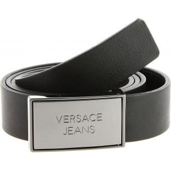 cd9795d3a08 Ceinture Cuir Boucle Plaque - Logoté Versace Jeans - Ceinture ...