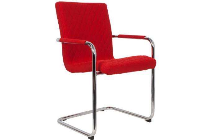 Fauteuil rally zuiver capitonn pieds chrome rouge fauteuil design pas cher - Fauteuil capitonne pas cher ...