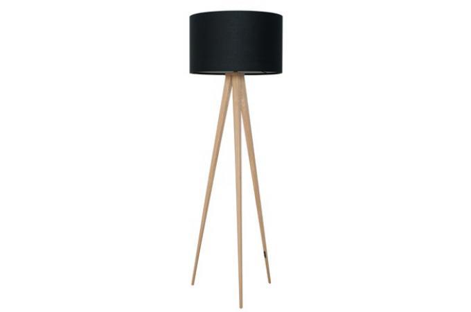 lampadaire tr pied zuiver bois naturel noire lampadaire. Black Bedroom Furniture Sets. Home Design Ideas