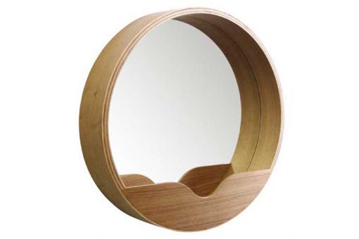 Miroir rond avec rangement zuiver 60 x 8 cm miroir rond for Miroir zuiver